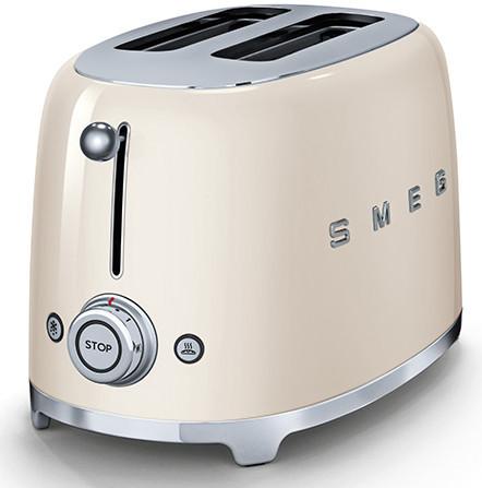 Cream Smeg 2 Slice Toaster