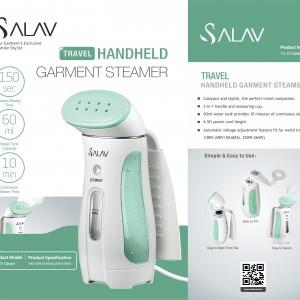 Green SALAV Travel Hand Held Garment Steamer