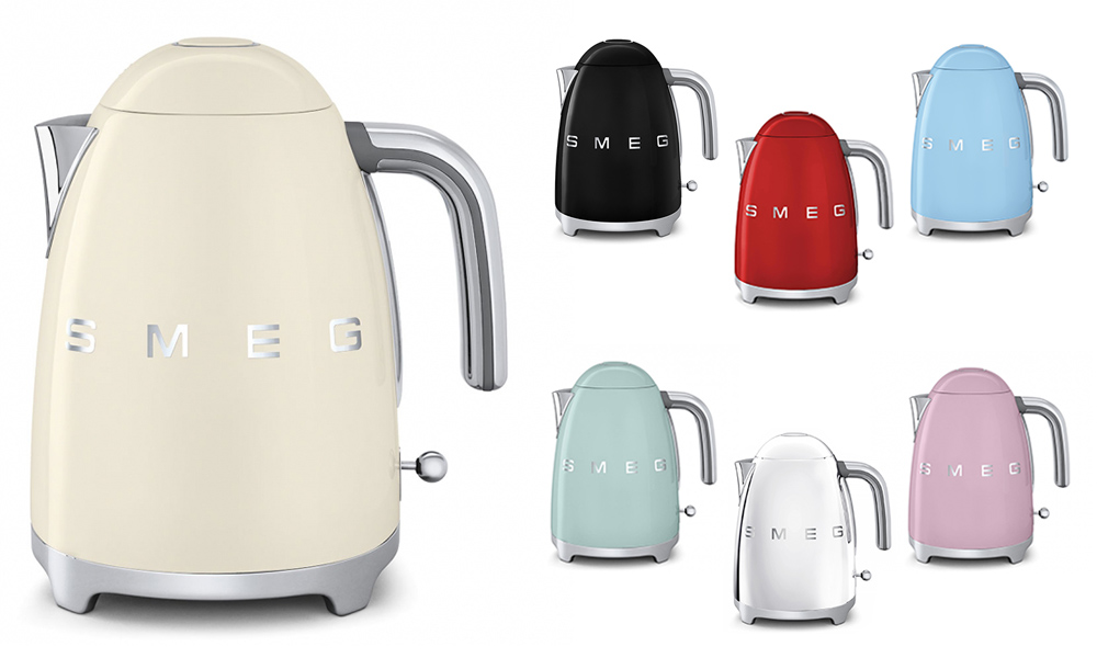 Smeg 50 S Style Retro Electric Cordless Kettle Stainless